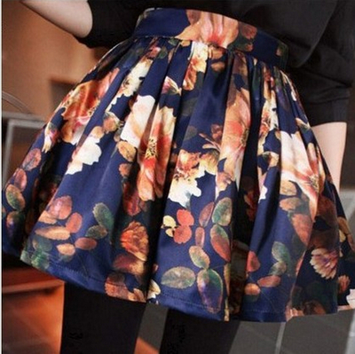 Women's retro skirt casual fashion vintage floral skirts  · leaf beyond · online store powered by storenvy