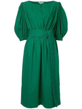 dress women cotton green