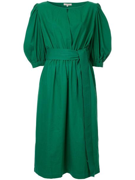 Caramel dress women cotton green