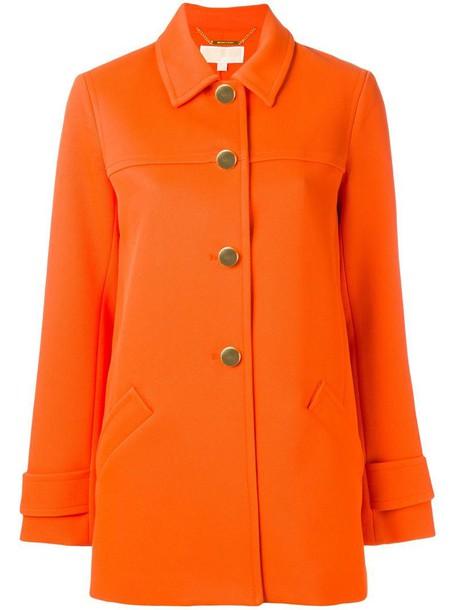 coat metallic women spandex yellow orange