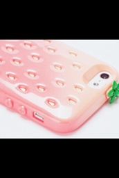 jewels,iphone cover,strawberry