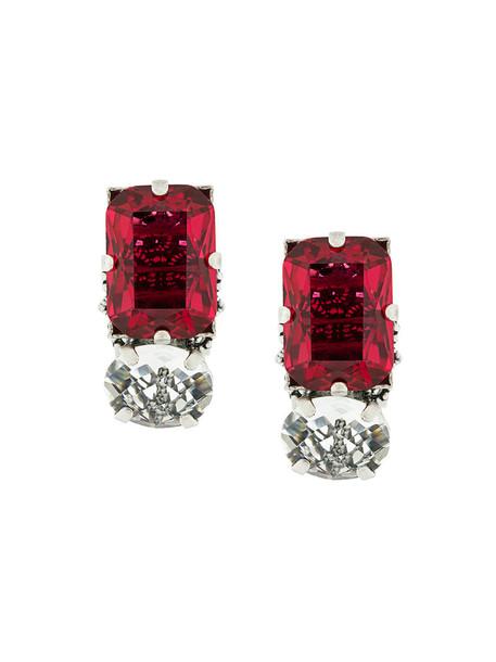 RADÀ women embellished earrings red jewels