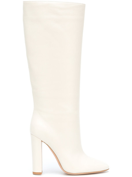 Gianvito Rossi women leather nude shoes