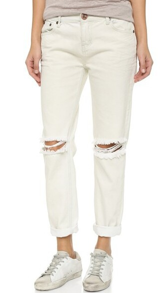 jeans creme