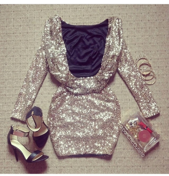 sequin dress golddress shortpartydress