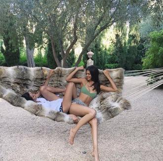 swimwear bikini top bikini summer kendall jenner instagram hammock