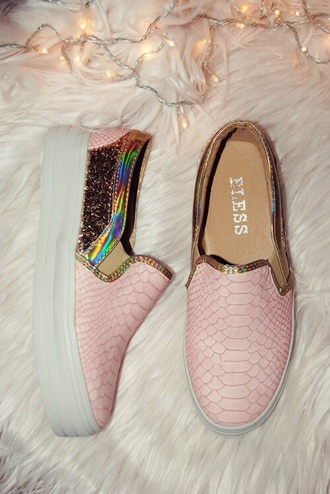 shoes rose gold pink