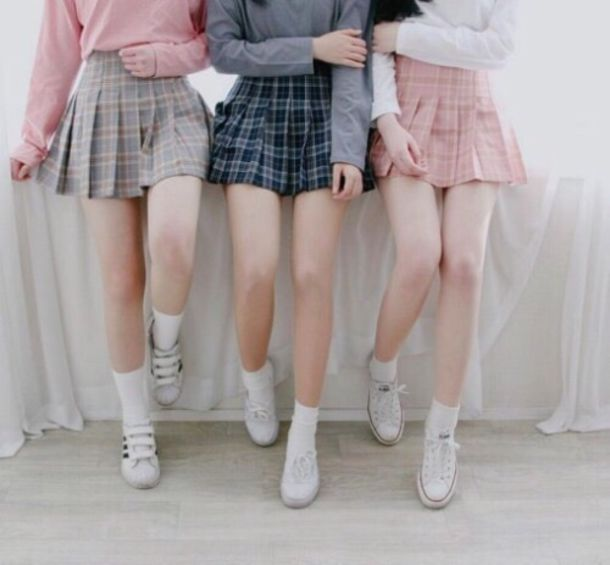 ba644a49fd skirt, cute, kawaii, sweet, plaid, grunge, pastel, short, tumblr ...