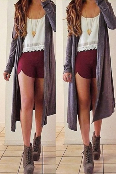 Long Sweaters With Shorts 118