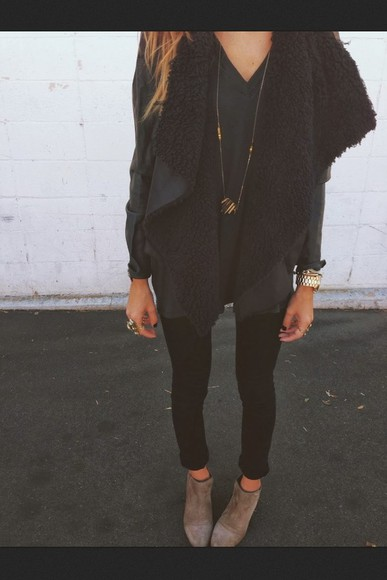 jacket veste black noir weheartit coat blackcoat blackjacket drape cute tumblr