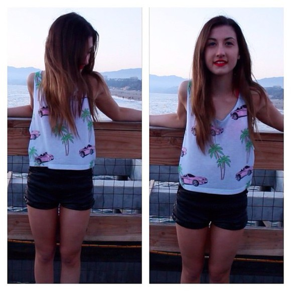 cars megdeangelis top palm tree print tank top youtube gypsy girly