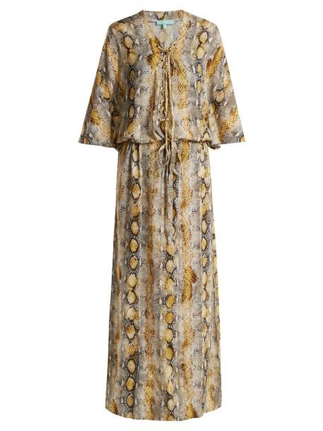 Melissa Odabash dress maxi dress maxi lace print python