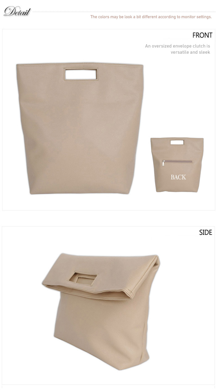 Style2030 NEW KOREA Oversized Envelope FOLD Clutch Shoulder Bags [B1252] | eBay