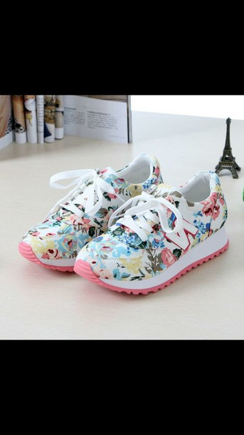 shoes new balance new balace flower new balance 574