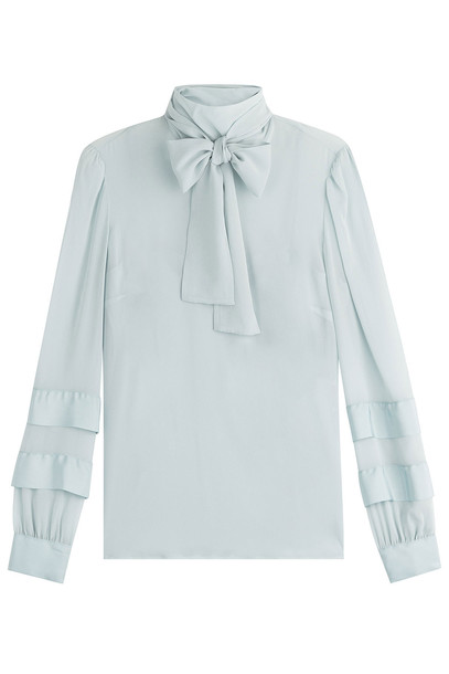 RED VALENTINO blouse silk blue top