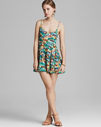 AQUA Dress - Pineapple Express Tiered Cami | Bloomingdale's