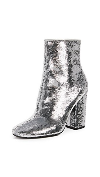 KENDALL + KYLIE heel ankle boots silver shoes