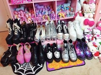 shoes holographic holographic shoes pastel goth pastel goth boots pastel goth shoes black shoes platform shoes platform boots platform heels platform sneakers creepers pink shoes galaxy shoes silver shoes sparkly shoes tumblr aesthetic tumblr shoes tumblr kawaii