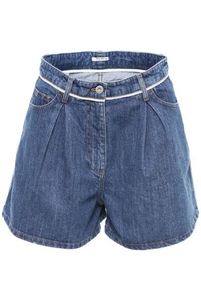 Miu Miu shorts denim shorts denim