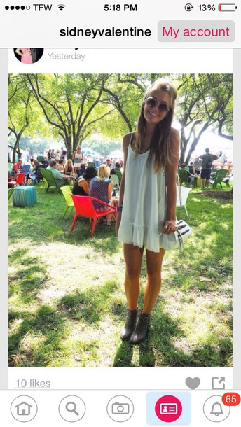 dress cute dress short dress casual style fashion white dress hat boots love white top summer dress spring summer hot outfit