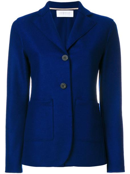 HARRIS WHARF LONDON blazer women blue wool jacket
