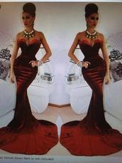 dress,red velvet