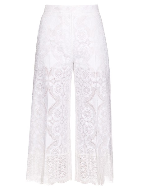 Hillier Bartley high lace white pants