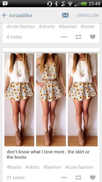 lace trim t-shirt sunflower