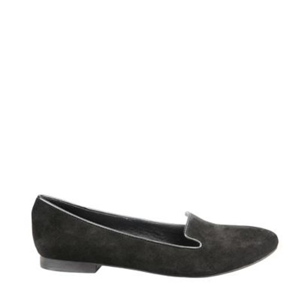 black flats loafers shoes smoking slippers