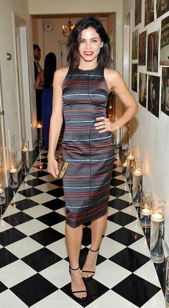 dress striped dress sandals midi dress