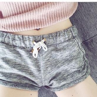shorts brndy grey grey shorts cozy pajamas