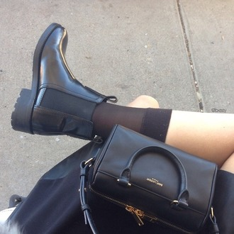 shoes chelsea boots black fashion tumblr cute shiny