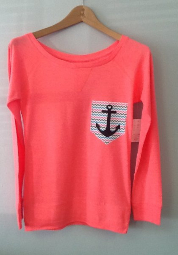 sweater anchor shirt anchor pink