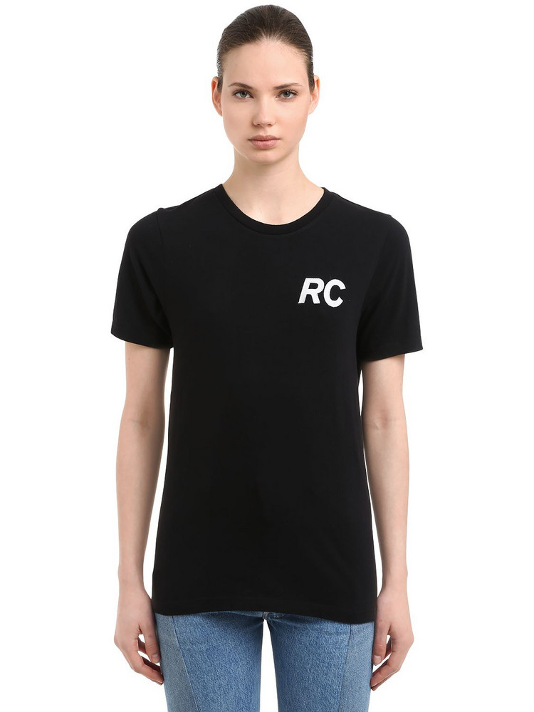 RESORT CORPS Embroidered & Printed Jersey T-shirt in black