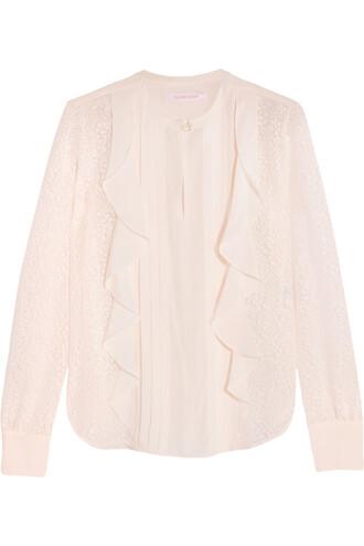 blouse chiffon blouse chiffon white top
