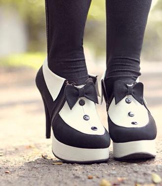 shoes hippie black white black and white smoking elegant shoes elegant black heels