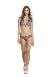 top,agua bendita,bikini bottoms,bikini top,brazilian bikini,cheeky,floral,halter top,print,triangle,bikiniluxe