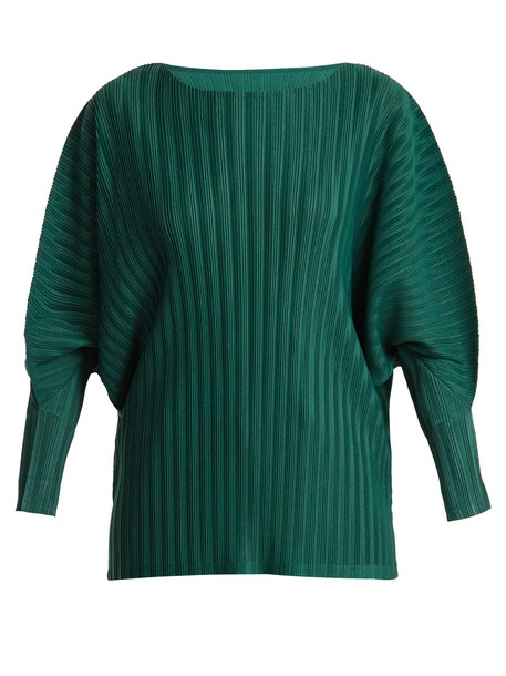 PLEATS PLEASE ISSEY MIYAKE top pleated green
