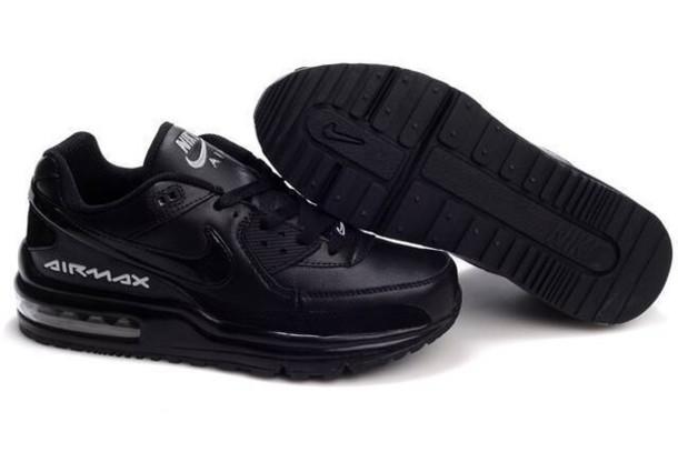 shoes air max ltd black leather