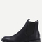 Black elastic mid heeled ankle boots -shein(sheinside)