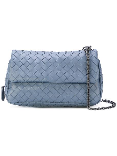Bottega Veneta - woven chain shoulder bag - women - Lamb Skin - One Size, Blue, Lamb Skin