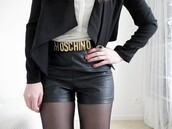 belt,moschino,outfit,shorts