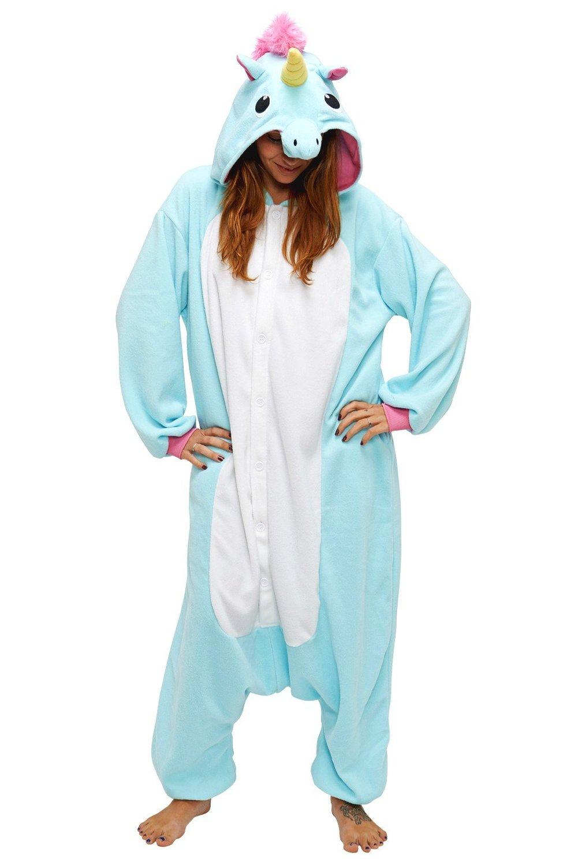 com blue unicorn kids kigurumi 2 5 years clothing