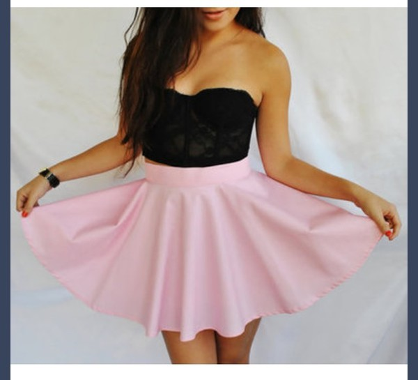 t-shirt pink skirt skirt skater skirt hippie dress black blouse cute girly tumblr outfit tumblr instagram shoes shorts style shirt