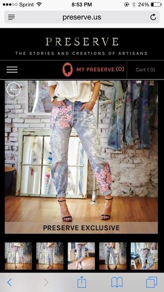 jeans preserve us boyfriend jeans blake lively cherry blossom