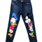 Donald duck & mickey mouse print jeans