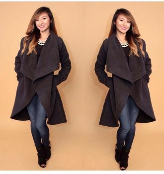 style fashion cardigan coat black