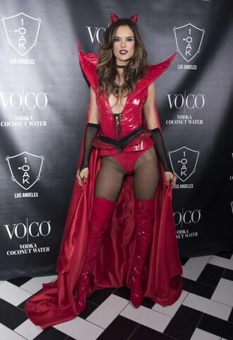 top red devil alessandra ambrosio halloween halloween makeup halloween costume halloween accessory
