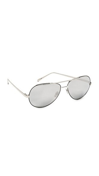 sunglasses aviator sunglasses gold white