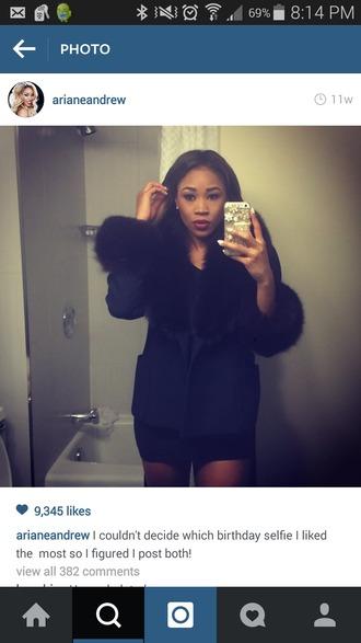 coat ariane fur jacket black jacket jacket wwe wwe girls
